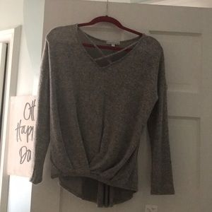 Gray soft sweater tags still on